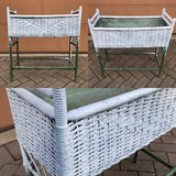 Vintage Wicker planter and metal liner in Bolingbrook, Illinois