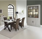 United Furniture - Antonia Dining - - China + Table + 4 Chairs including delivery in Fort Riley, Kansas