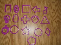 16 piece Shapes cookie cutters in Naperville, Illinois