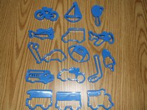 16 piece Sports and Vehicles cookie cutters in Bolingbrook, Illinois