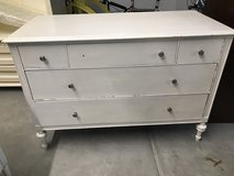 Nice Old Solid Wood White Dresser in Wheaton, Illinois