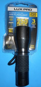 (#24) Lux Pro Extreme Tac 500 LED Flashlight (New) in The Woodlands, Texas