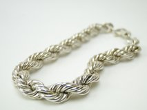 Sterling Silver Twisted Rope Bracelet in Pearland, Texas