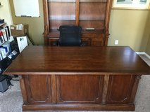 Solid Wood Executive Desk and Credenza in Houston, Texas