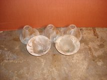 SET OF FIVE GLASS LIGHT  GLOBES in Naperville, Illinois