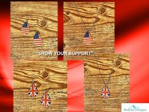 American Flag Earrings - SHOW YOUR SUPPORT in Nellis AFB, Nevada