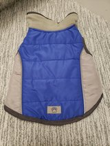 Blue/Grey Small Dog Jacket in Aurora, Illinois