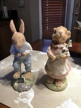 """2 New Easter Bunny Figurines-8"""" tall in Aurora, Illinois"""