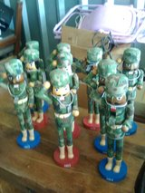 Military Nut Cracker soldiers set in 29 Palms, California