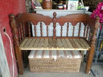 bench and wicker storage box in Leesville, Louisiana