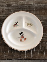 Vintage Child's Mickey Mouse Plate in Clarksville, Tennessee