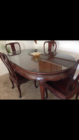 Beautiful antique dinning room table in Yucca Valley, California