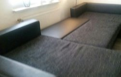 U SHAPE COUCH with pullout bed function and storage in Ramstein, Germany