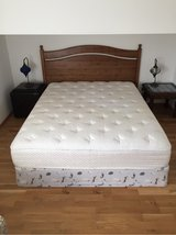 Queen Vera Wang Mattress Box spring and IKEA bedframe in Ramstein, Germany