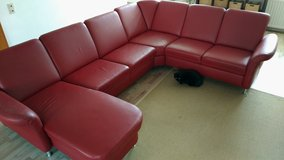 Red Leather Couch in Ramstein, Germany