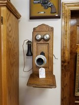 Antique Oak Wall Phone in Fort Leonard Wood, Missouri