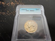1963d ms 67 quarter icg pcgs lists this coin  at 900 in Fort Campbell, Kentucky