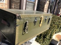 WWII Military Trunk Foot Locker Chest in Naperville, Illinois