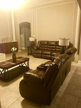 Beautiful  livingroom set with couch, loveseat, tables and lamps. in Leesville, Louisiana