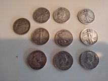Silver half dollars in Fort Campbell, Kentucky