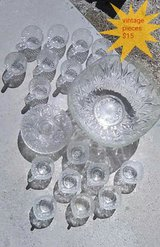 Vintage crystal xl punch bowl + cups in 29 Palms, California