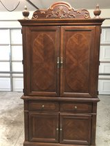 Solid Oak Armoire with 3 drawers in Moody AFB, Georgia