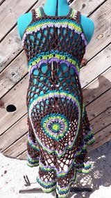 COACHELLA Handmade Crochet Boho Circle Vest in 29 Palms, California