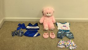 Build A Bear Pink Teddy Bear w/ Cheerleader Outfit & Hello Kitty Pajamas in Joliet, Illinois