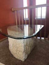 Glass and stone coffee table in Joliet, Illinois