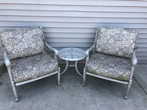 2 pc club patio chairs and table in Joliet, Illinois