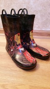 Iron man rubber boots in Chicago, Illinois