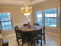 Beautiful 7 piece  extendable dinning room set (6 chairs) in Leesville, Louisiana