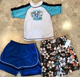 Brand New w/ tag USPolo Swim Shorts Boys size4 + bonus rash guard and reversible shorts in Okinawa, Japan
