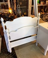 antique chalk painted twin bed with rails in Cherry Point, North Carolina