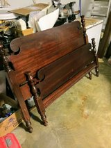 antique queen size bed with rails in Cherry Point, North Carolina