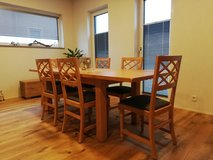Dining table with 6 chairs, cabinet and coffee table in Spangdahlem, Germany