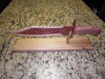 Bowie Knife (rough wood carving) in Camp Lejeune, North Carolina