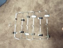 Group of 5 Foldable 6 Tier Skirt Pants Cloth Hanger Metal in Conroe, Texas