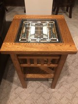 Quoizel stained glass side table in Lockport, Illinois