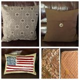 3 different throw pillows + pillow cover in Morris, Illinois