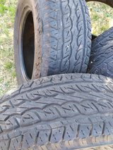 Set of 4 Pathfinder sport p265 70r17 113s  truck tires good tread in El Paso, Texas