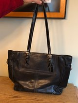 Genuine Black Leather Coach Bag REDUCED in Naperville, Illinois