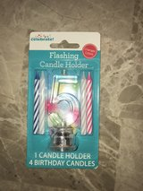 Never opened birthday flashing candles  (1 & 5) in Okinawa, Japan