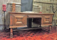 Antique Desk Solid Oak in Ramstein, Germany