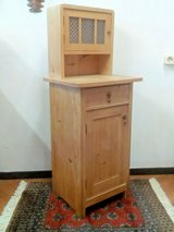 Antique Art Nouveau softwood night stand, side table around 1900 in Wiesbaden, GE