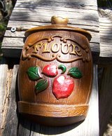 MCM 1960's Wall Decor - Cast Iron Flour Canister in Alamogordo, New Mexico
