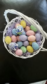22 Decor Eggs and Basket in Kingwood, Texas