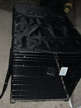 Large dog cage 'New'. W/cage cover in Oswego, Illinois