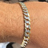***BRAND NEW***Men's TWO TONE Cuban Link Bracelet *** in Kingwood, Texas