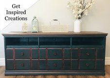 Vintage Country-Rustic Americana Buffet Entertainment Center Dresser Solid Wood Free Delivery 6 ft in Camp Pendleton, California